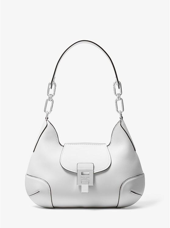 25cfecdaf1d0 Michael Kors Bancroft Medium Calf Leather Shoulder Bag