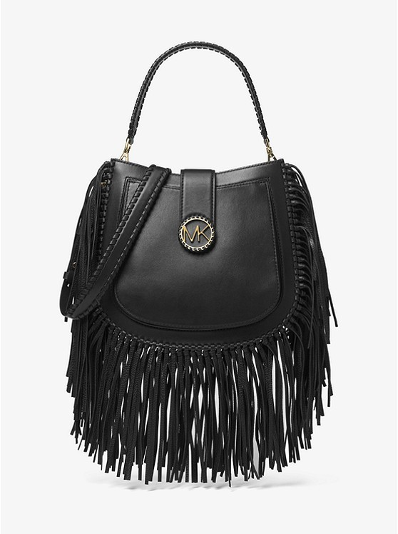 b83cce19f7c6 Michael Kors Lillie Medium Fringed Leather Shoulder Bag
