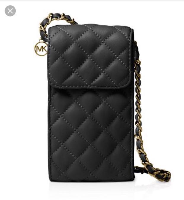 dccd8bbfba7d Michael Kors Sloan Quilted Chain Crossbody Bag - Black -, Luxury ...
