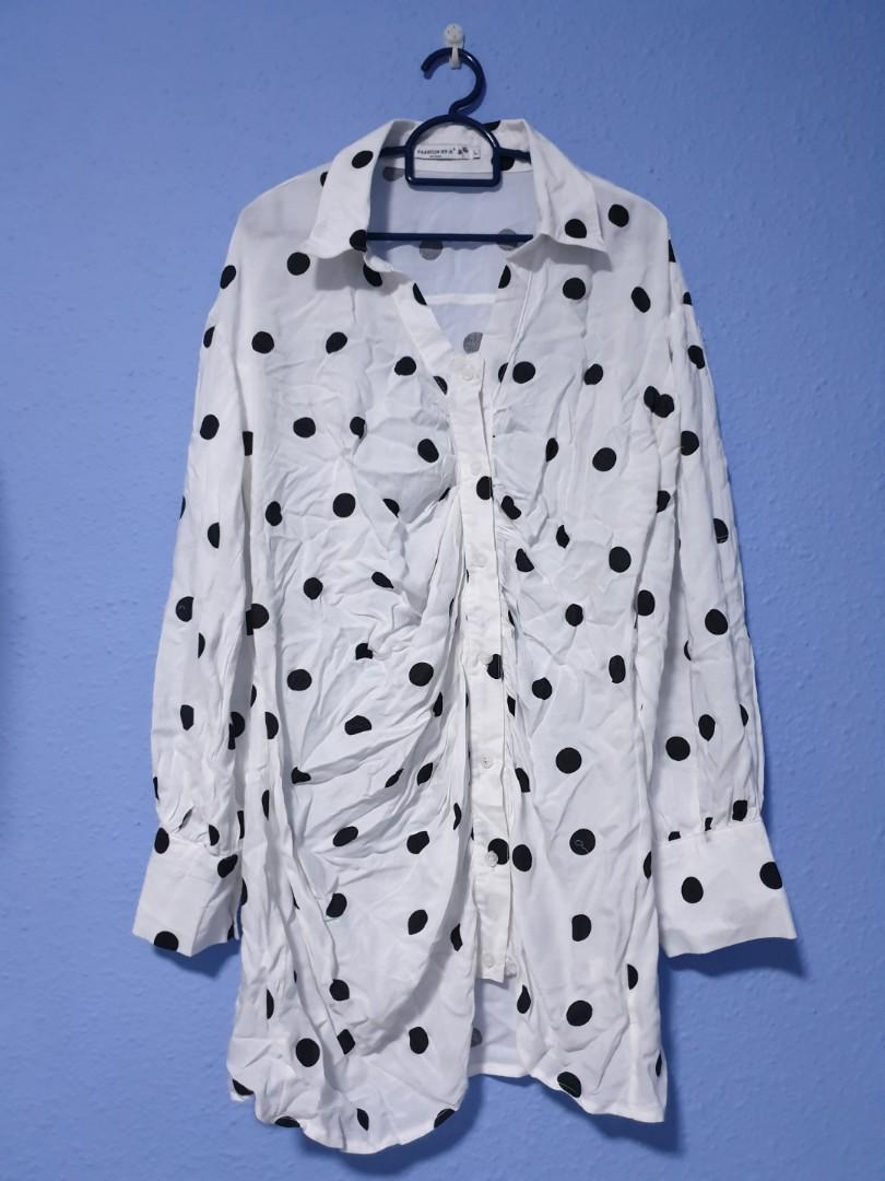 Mini Polka Dots Casual T-Dress