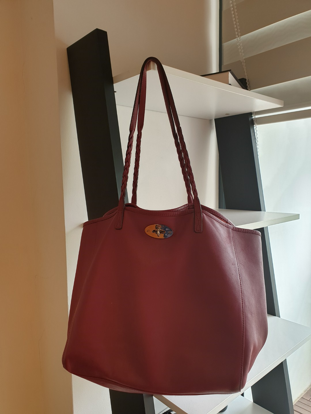 Mulberry Dorset Tote in Soft Napa Leather with Silver Hardware ... 07b69756c1124