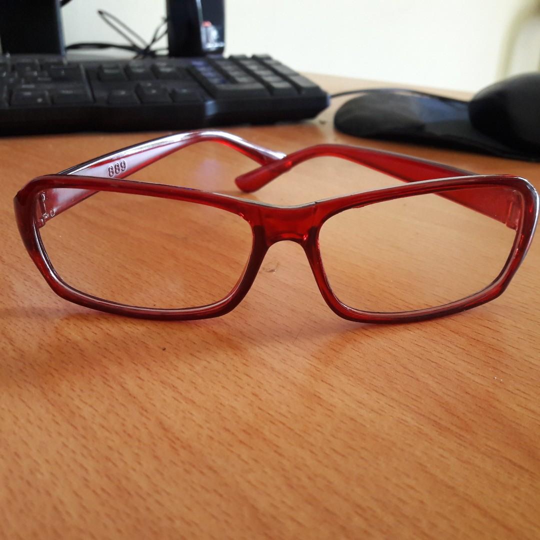 29b131eeb9 New Kacamata Bening Fashion Import Frame Maroon Polos Bahan Bagus ...