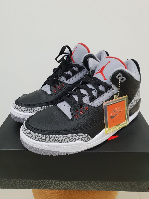 super popular 1e4ad 432f1 NIKE AIR JORDAN 3 RETRO BLACK CEMENT, Men s Fashion, Footwear ...