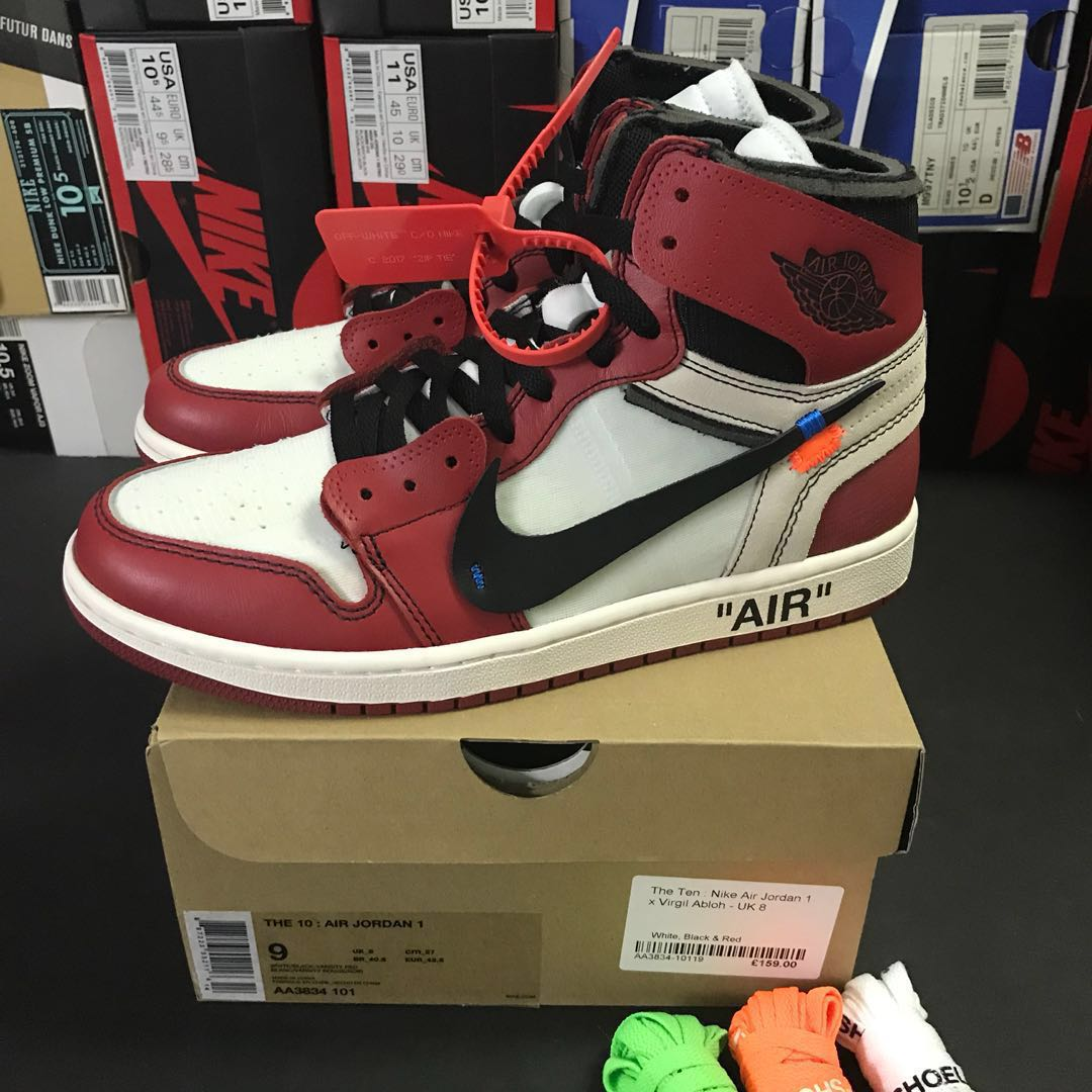 f0d2ea2f9730 Nike x Off White Air Jordan 1 Chicago Size US 9