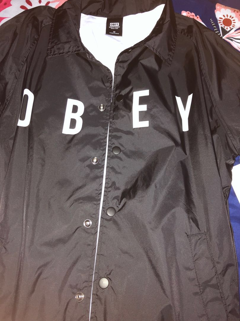 09def0ebb3f37 obey authentic coach jacket ( anyway jacket ), Men's Fashion ...