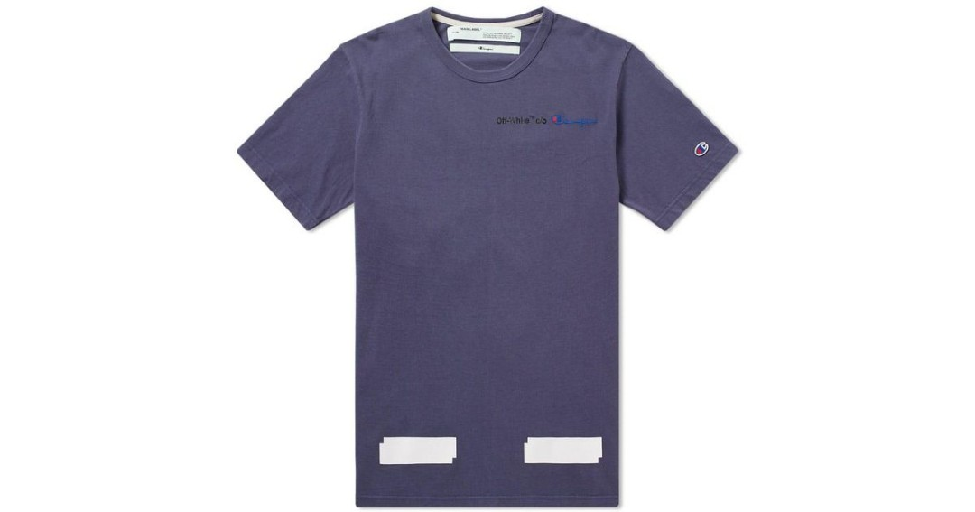 d2344eb3 OFF White x Champion Tee AUTHENTIC, Men's Fashion, Clothes, Tops on ...