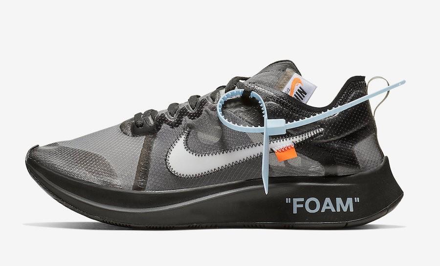 buy popular 2df16 086e2 Off-White x Nike Zoom Fly Black, Men s Fashion, Footwear, Sneakers ...