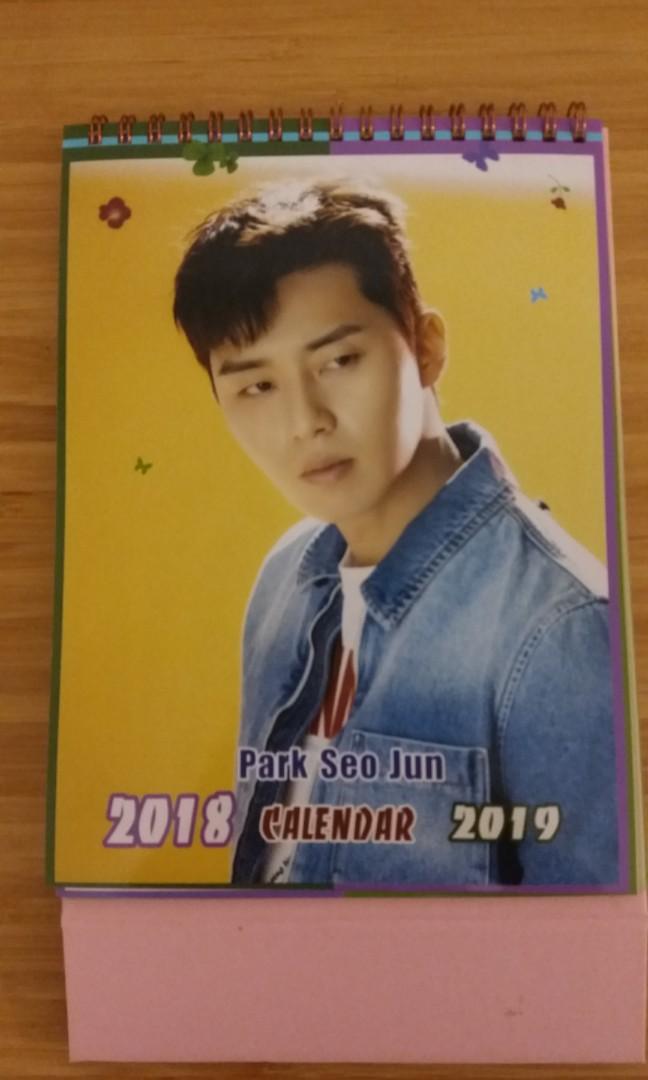 Park Seo Joon Table Calendar Entertainment K Wave On Carousell