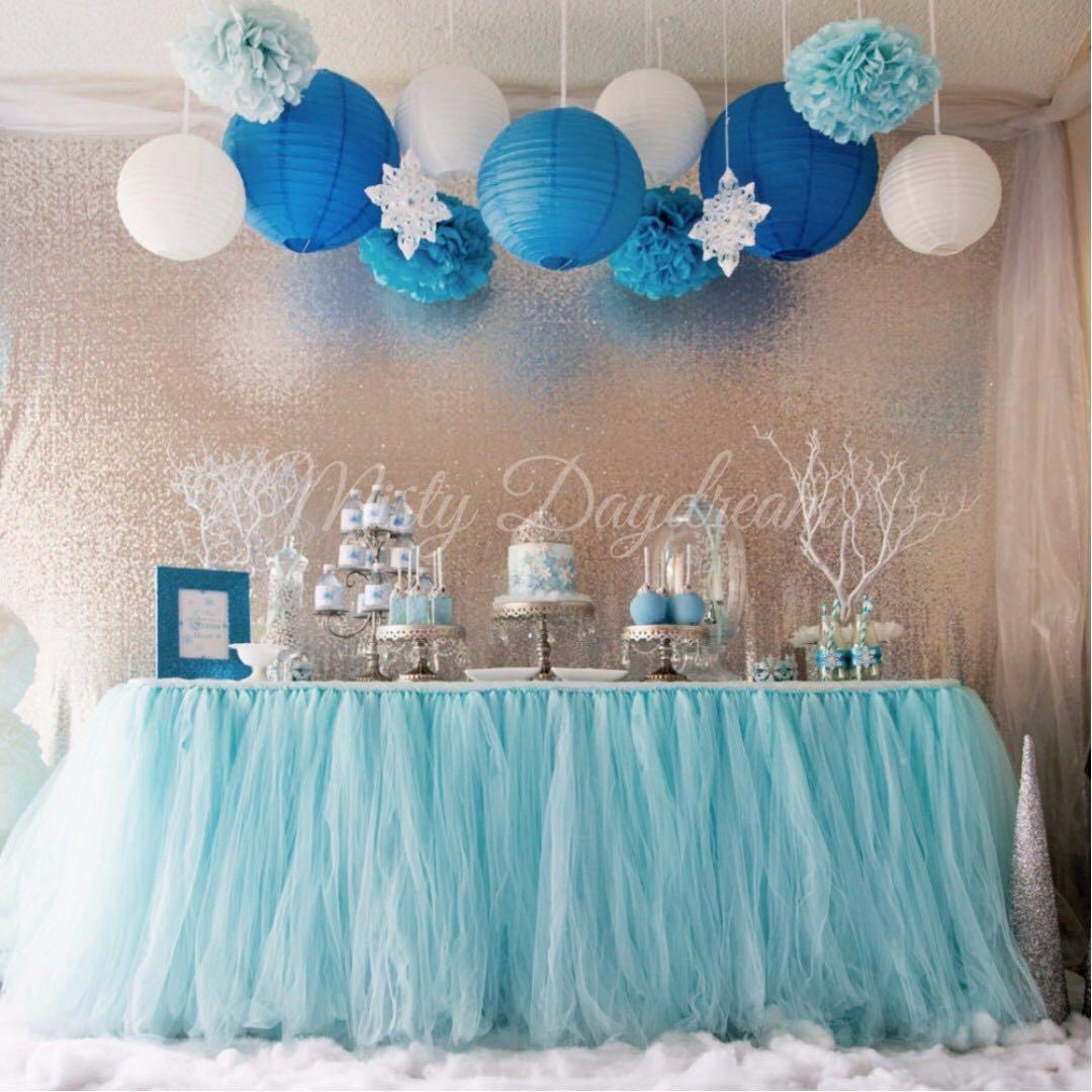㊗ Party Table cloth / Tutu Table Skirt / Plastic / Fabric