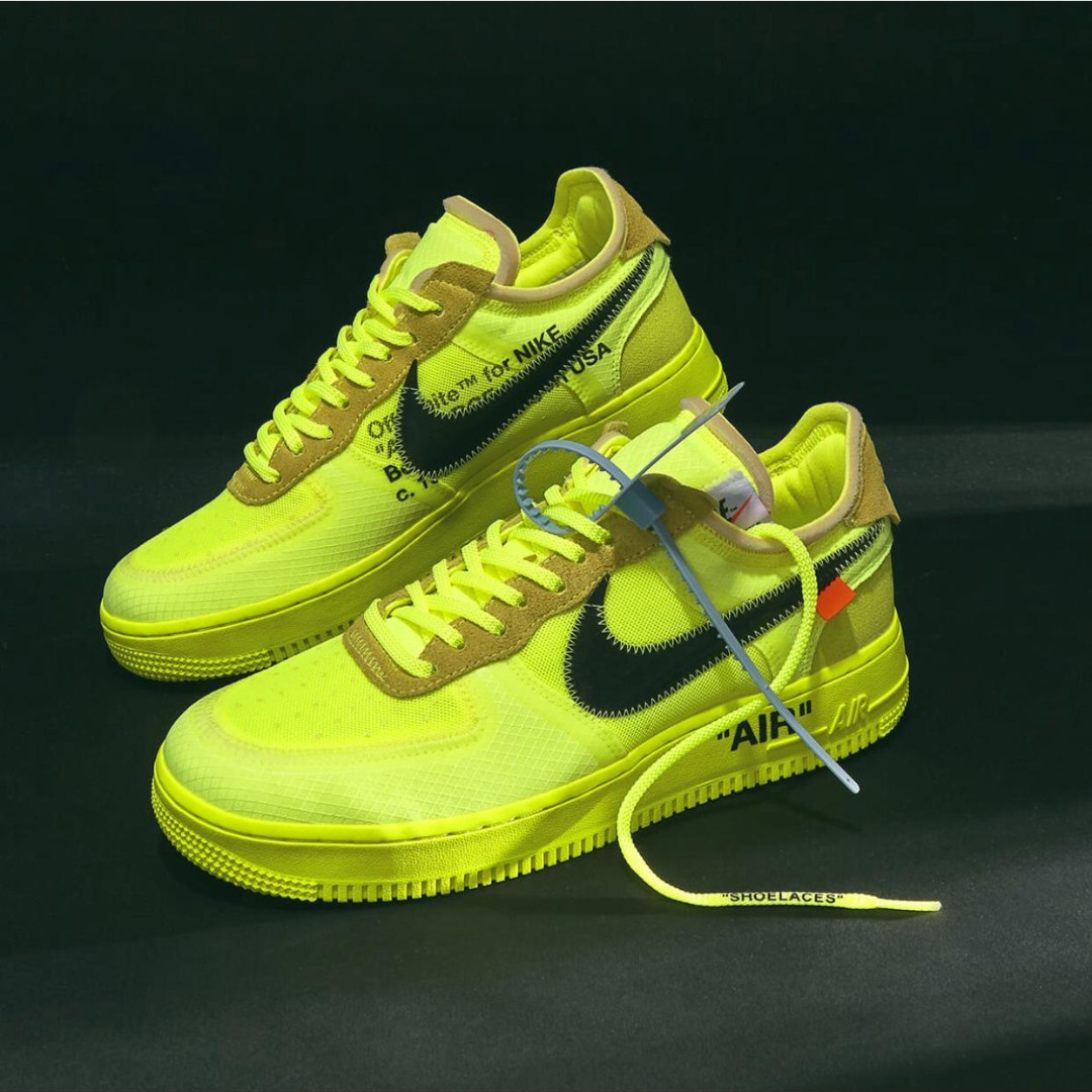 bf01983d [PO] Nike Air Force 1 Low X Virgil Abloh OFF-WHITE - Volt & Black, Men's  Fashion, Footwear, Sneakers on Carousell