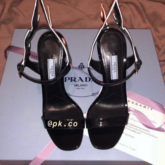 Prada Flame Wedge Heels RRP $1660