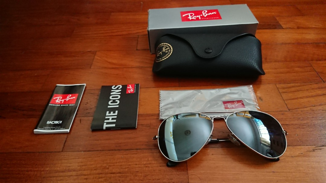 89353091a184 Ray-Ban Silver Aviator RB3025 003/40, Men's Fashion, Accessories ...