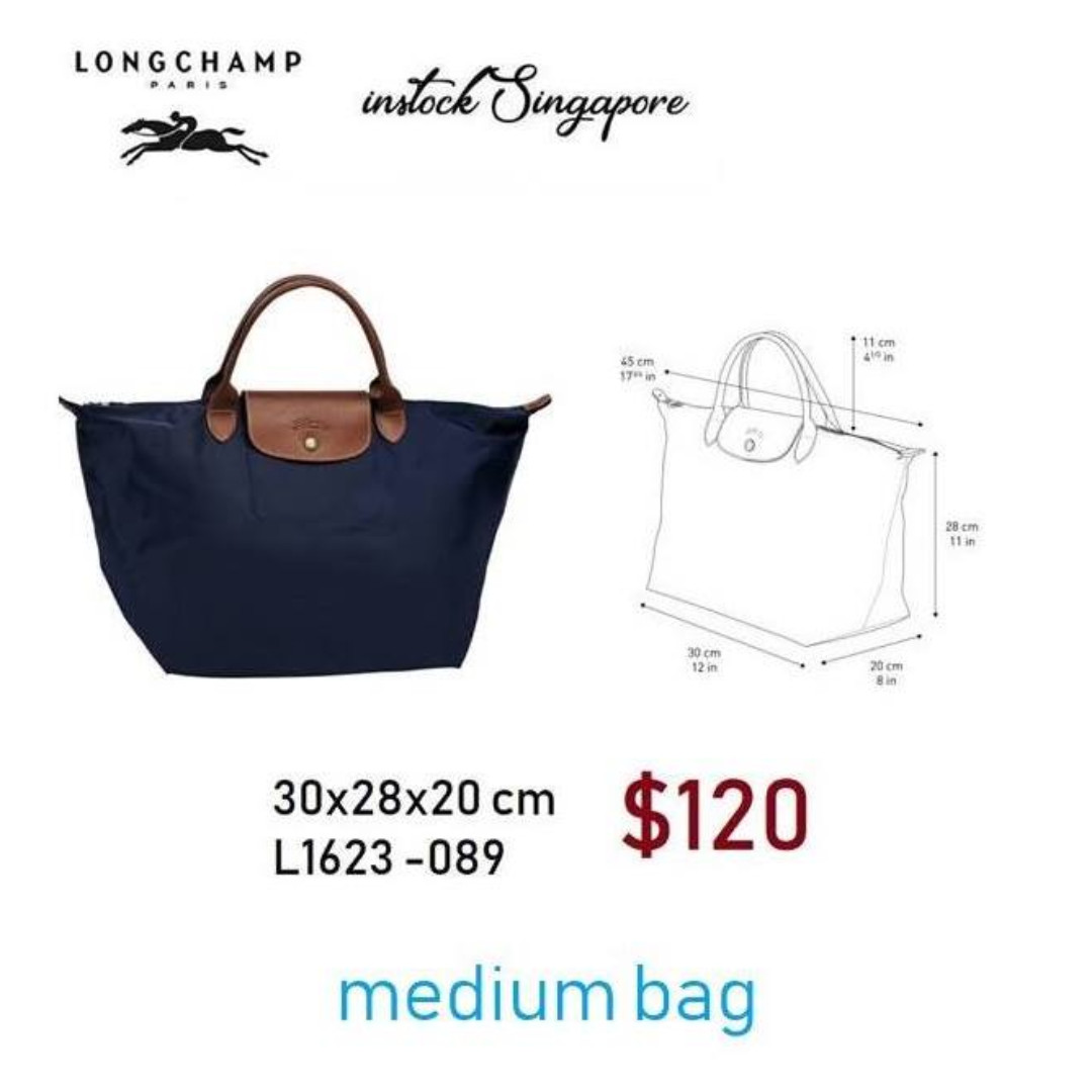 READY STOCK authentic new Longchamp LE PLIAGE medium short handle shopping  bag 1623---30x28 76cfd9992ce6f