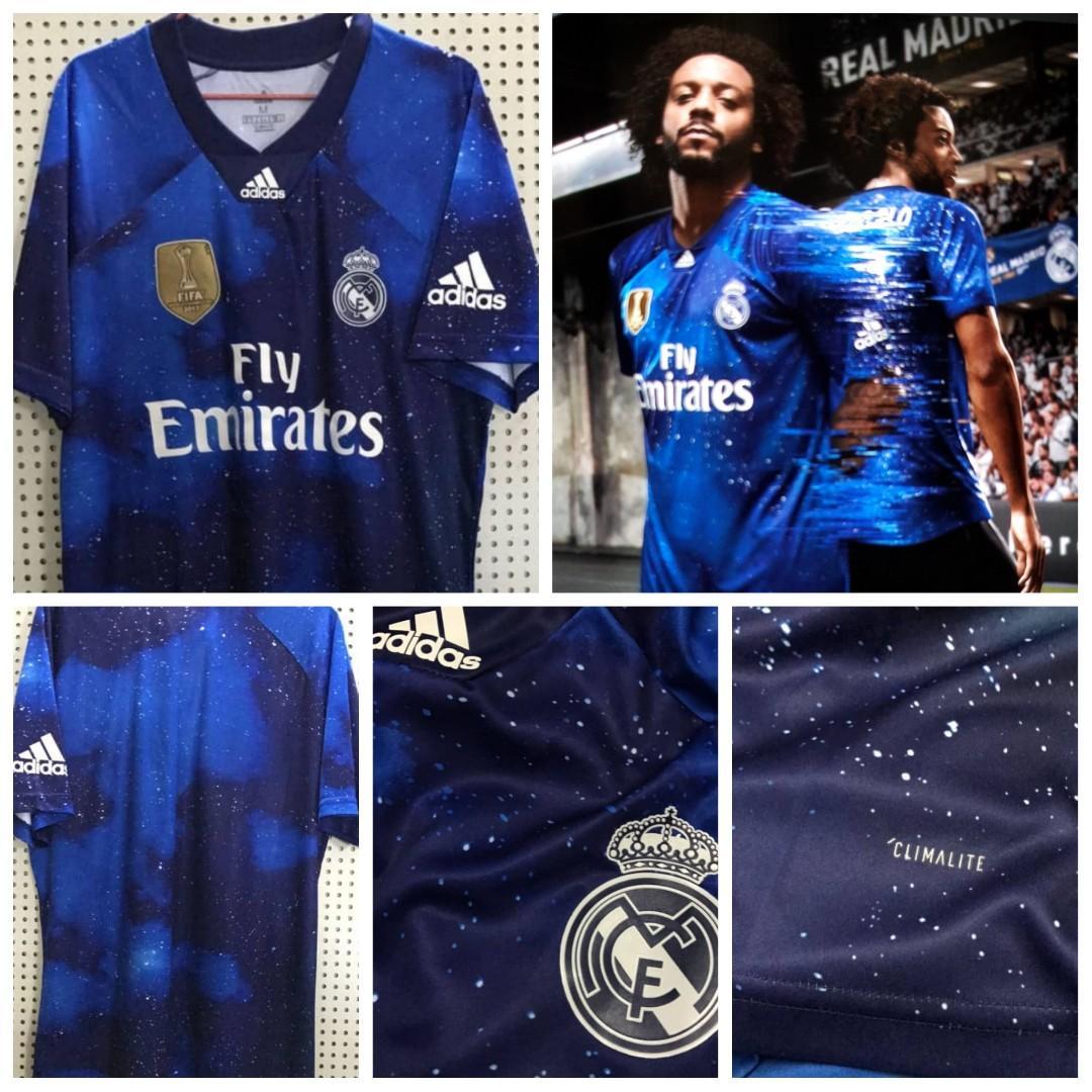buy popular b189b acd54 Real Madrid EA Sports 4th kit jersey, Sports, Sports Apparel ...