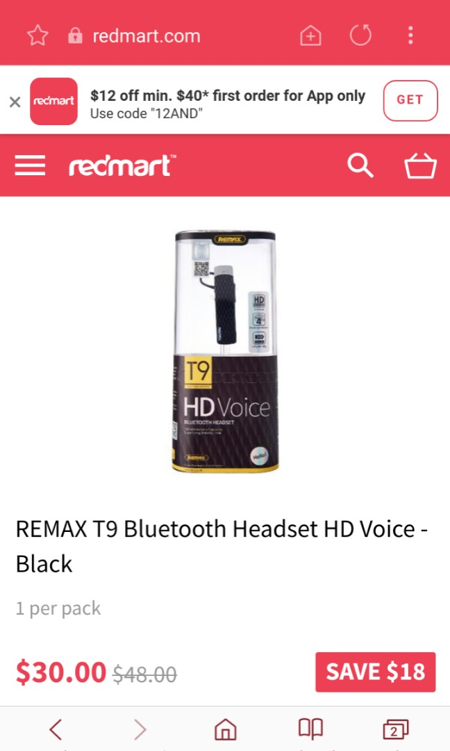 Remax T9 Blue tooth headset