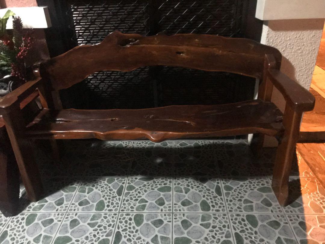 rush sale] handmade wood craft living room set / sala set on