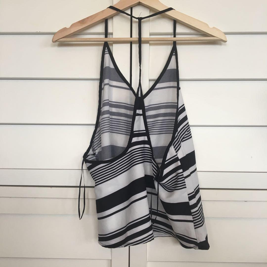 Silky stripes dressy top