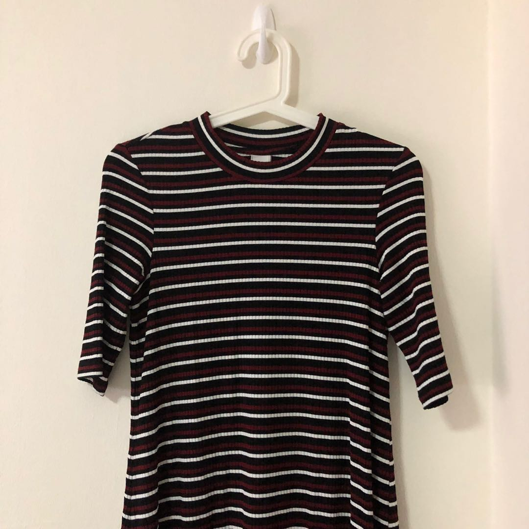 90c97e07c97 Red Black And White Striped Shirt Dress - raveitsafe