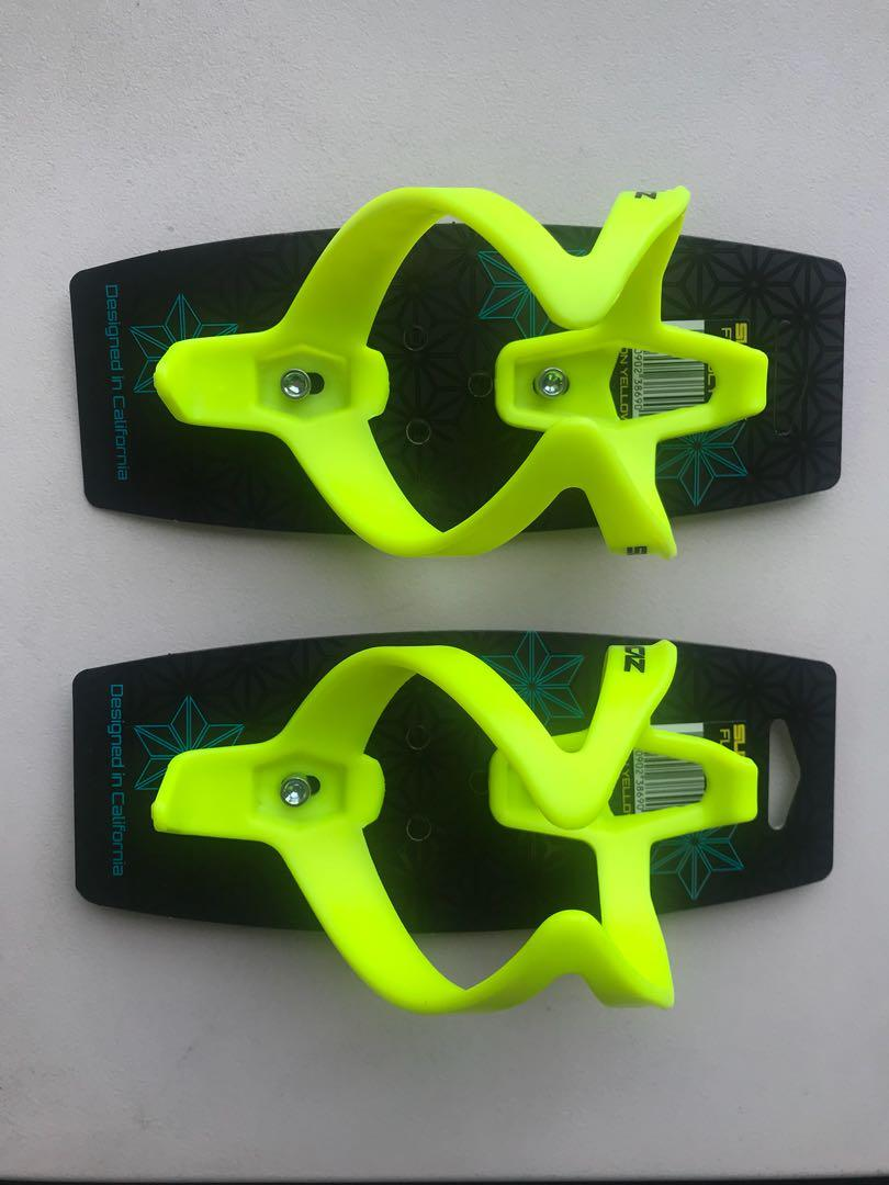 Supacaz Fly Bicycle Water Bottle Cage Neon Yellow