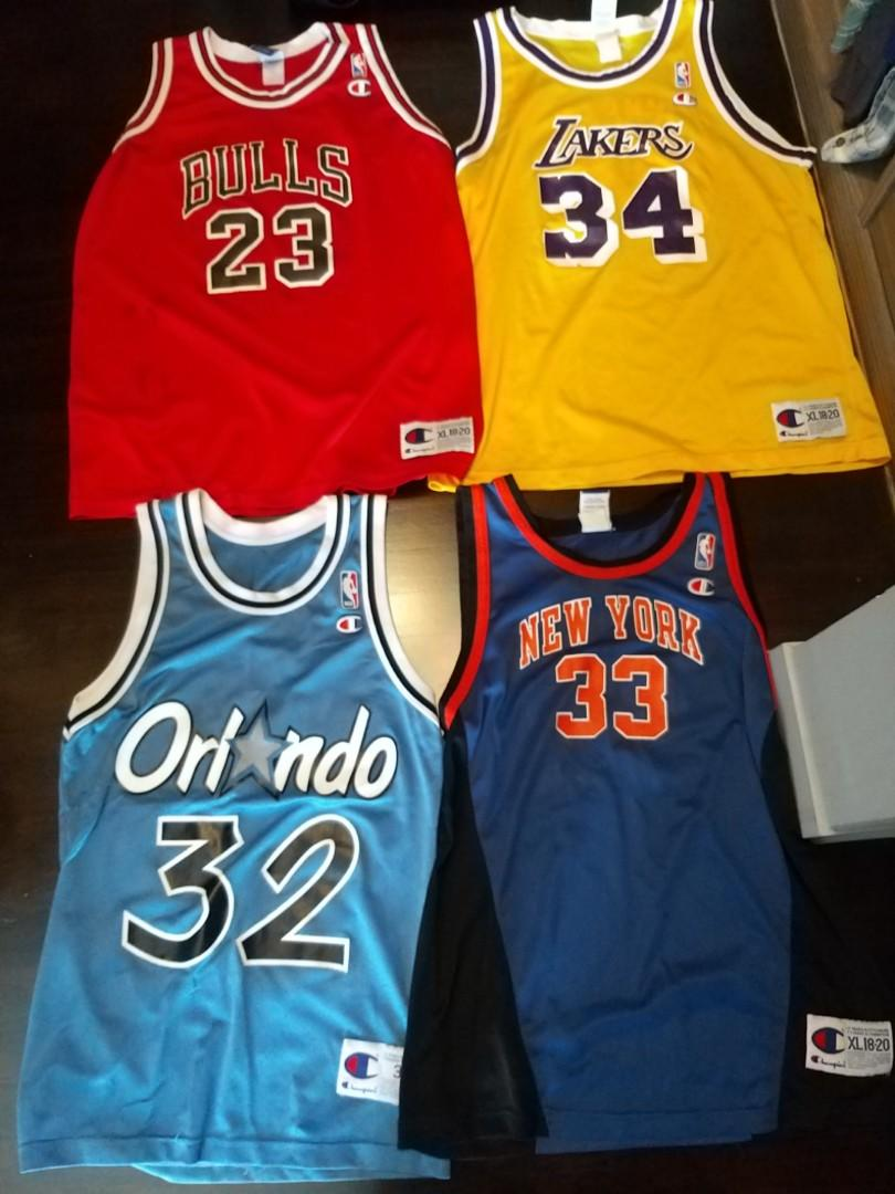 size 40 89399 e7e80 Vintage Champion NBA jerseys, Men's Fashion, Clothes, Tops ...