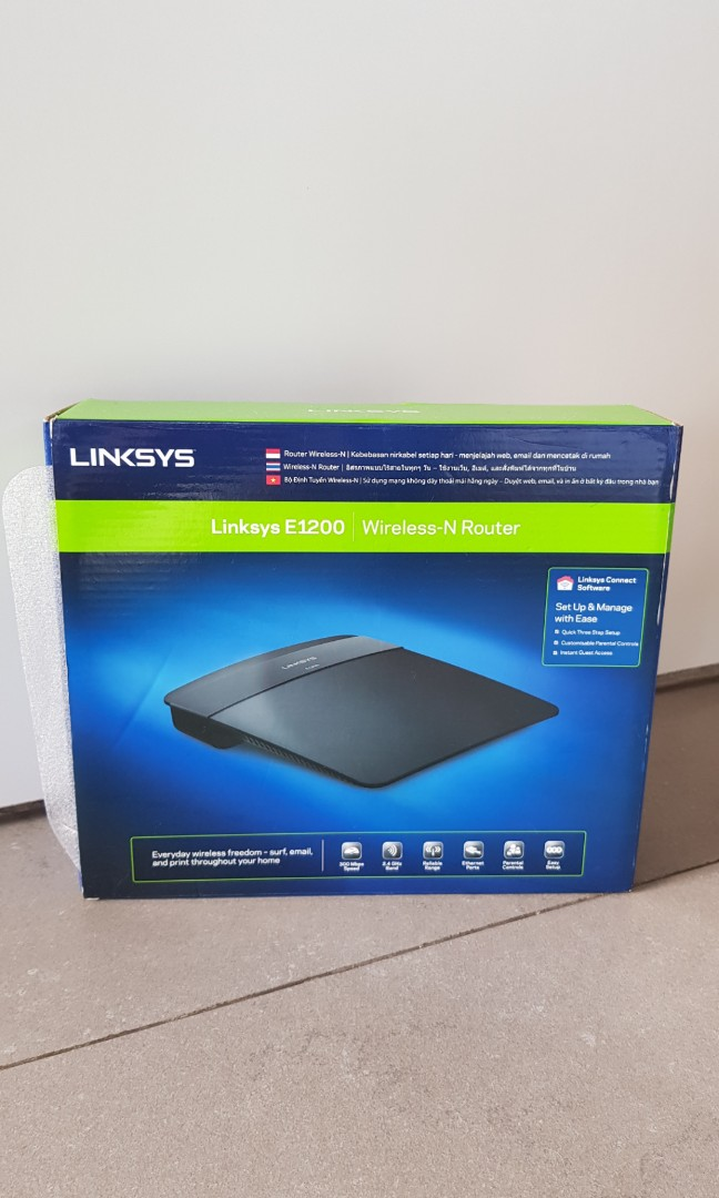 Wifi router Linksys E1200
