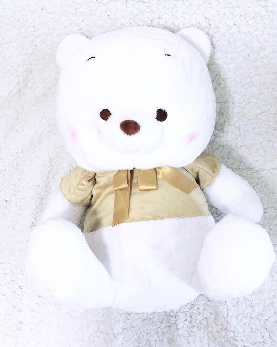 Winnie The Pooh - Japan Limited Edition Winter Snow Golden Pooh Jumbo Plushy
