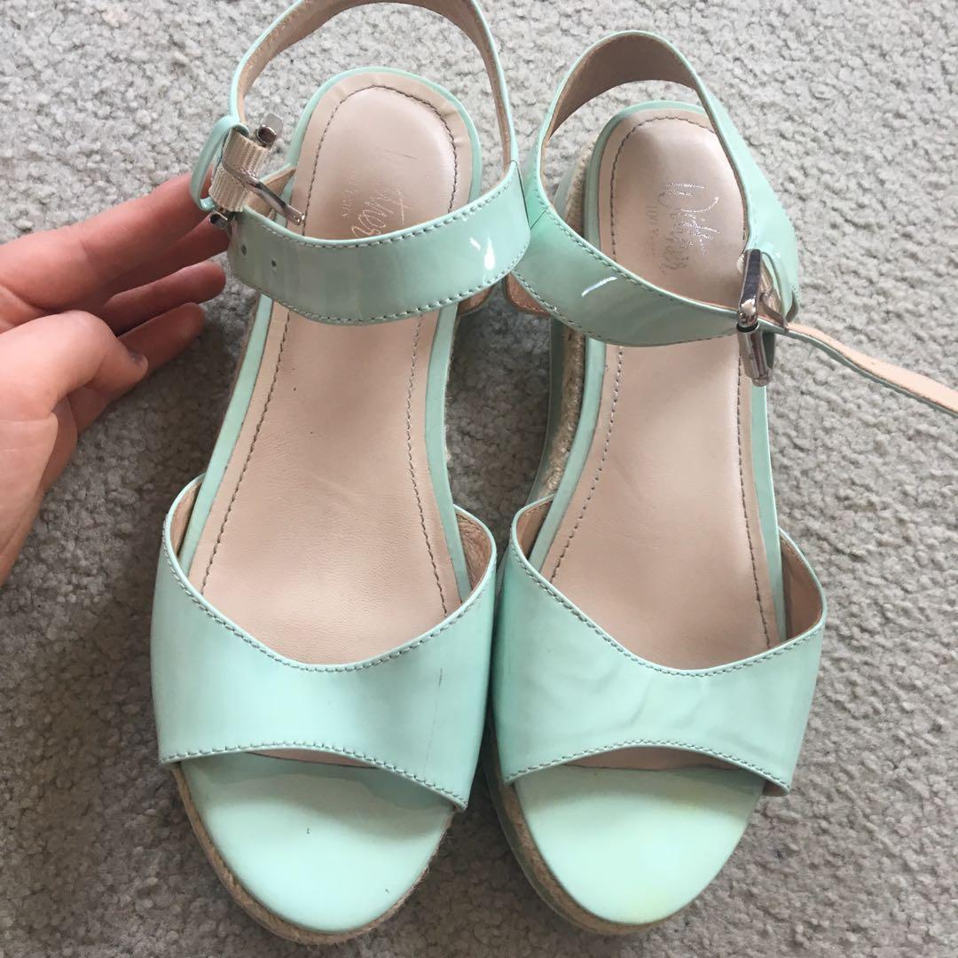 Women's platform flat sandal shoes wittner