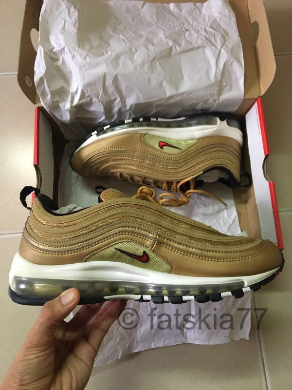 0c07b5ff79 WTS Pre-Owned Nike Air Max 97 OG 'Metallic Gold' UK8/ US9, Men's ...