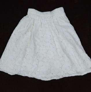 White Lace Skirt #JAN55