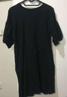 Zara Dress Kaos Hitam