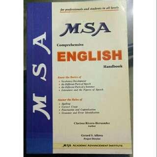 (Preloved) MSA English Handbook