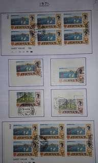 1971 JERSEY STAMPS