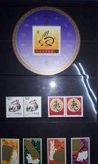 Canada Year of rabbit stamps