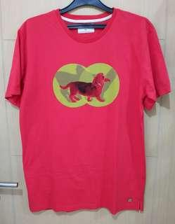 Kaos Tee Pria Hush Puppies Original Bond Merah Size XXL