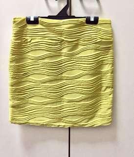 BN Mini Skirt mustard yellow