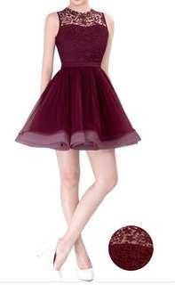 Doublewoot Desniwa dress (Maroon) XS