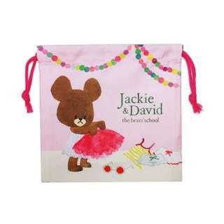 日本正版 The Bears School 小熊學校 Jackie 索繩袋 束口袋