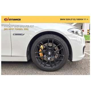 CJ DYNAMICS FRONT BIG BRAKE KIT (BIG 6-POT FORGED, 356) ON BMW 528i (F10) 180KW 11 ->