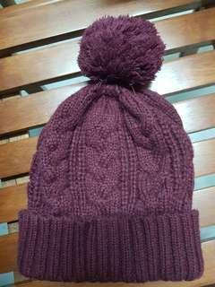 Korea Winter Hat maroon beanie hat knit