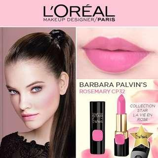 (BN) L'Oréal Collection Star Barbara Palvin Rosemary Pink Lipstick