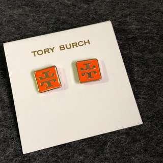 Tory Burch Earrings Square Orange 橙色正方形耳環