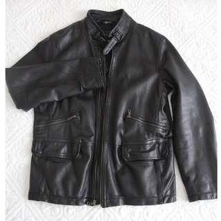 Black leather jacket Banana Republic