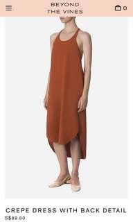 BNWT Beyond the Vines Crepe Dress with Back Detail