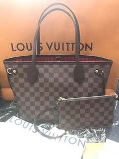 *New Cond* Louis Vuitton Neverful Pm Damier 2018 Full Set!