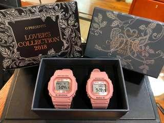 COUPLE💝PAIR SET in LIMITED EDITION DIVER WATCH : 1-YEAR OFFICIAL WARRANTY : 100% ORIGINAL AUTHENTIC BABY-G-SHOCK RESISTANT in ROSE PINK : Best For Most Rough Users: LOV-18B-4DR / LOV-18B-4 / LOV-18 / LOV18B-4 / LOV-18B-4JR / BABYG / GSHOCK