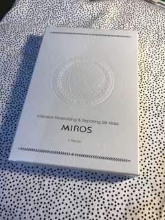 🚚 Miros 高保濕淨白 修護 蠶絲面膜 3入包