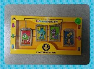 香港迪士尼Hong Kong Disney pin HKDL 2018 PTN Monster University 4 Pins Box Set LE500