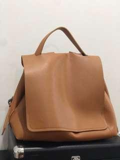 Brown Messenger Backpack/Satchel