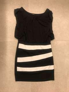 黑白連身裙