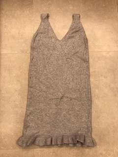 灰色厚身料全身裙